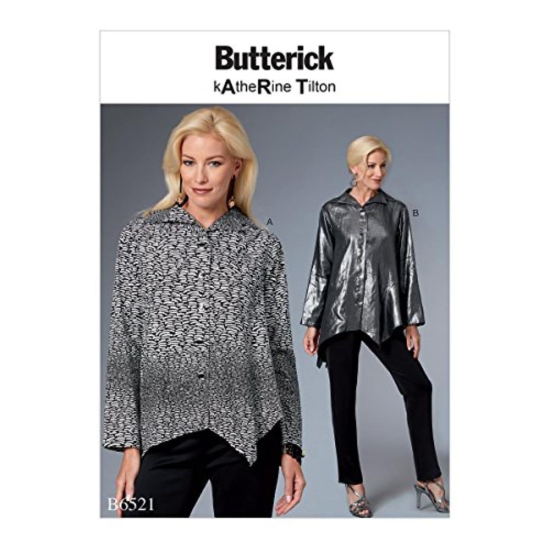 Butterick Patterns B6521B50 Misses' Top with Asymmetrical Hem Sewing Pattern, B5 (8-10-12-14-16)