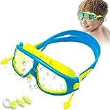 solawill Gafas de natación , máscara de Buceo para niños Gafas de esnórquel Gafas de Buceo correa de ajustable resistentes al agua a prueba de fugas protección UV Gafas de Piscina para niños y niñas