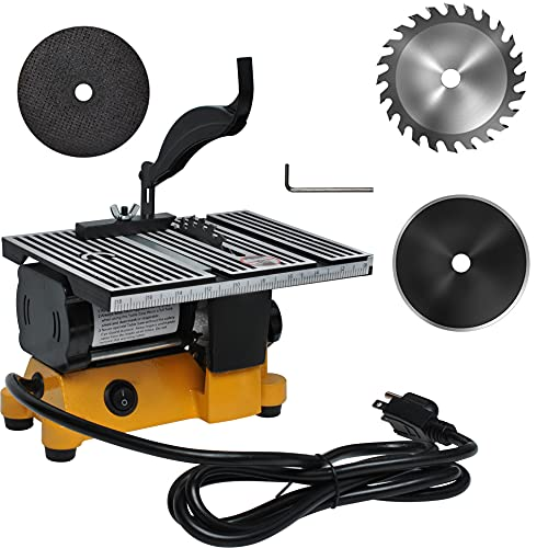 Mini Portable Table Saw 4Inch 110V by Wadoy for DIY Precision Handmade Wooden Ceramic Glass Metal Cutting
