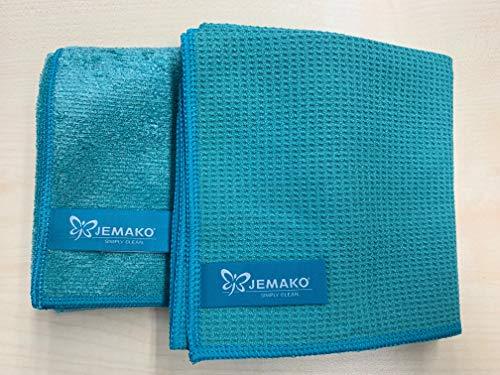 Jemako 2er Set Trockentuch mittel 45 x 60 cm + Profituch mittel 40 x 45 cm, Türkis