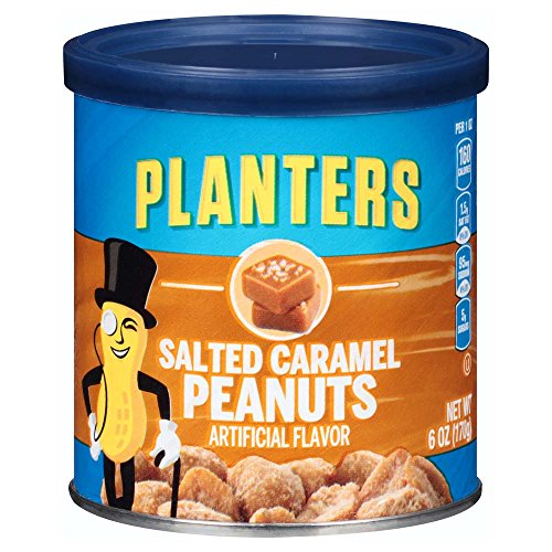 Planters Salted Caramel Peanuts 6 oz Canisters Pack of 8