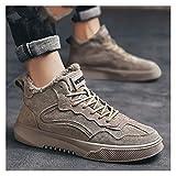 ZHENQ Botas De Invierno para Hombre Botas De Nieve Cómodas Zapatos Antideslizantes Calentar Forradas Impermeables Botines De Invierno (Color : Khaki, Size : 40)