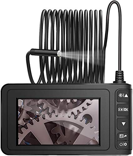 "MoKo Industrie Endoskop Boreskop,10M 1080P Full HD 4,3 Zoll LCD Inspektionskamera Halbsteife Snake Tube Wasserdicht Digitale Hand Endoskopkamera Videoaufnahme mit 1700mAh Batterie 1.6-198\"" Brennweite"