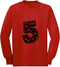 Five Years Old Birthday Gift Idea - I'm 5 Superstar Long Sleeve Kids T-Shirt