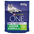 Purina One Indoor Dry Cat Food Turkey 800g, Pack of 4