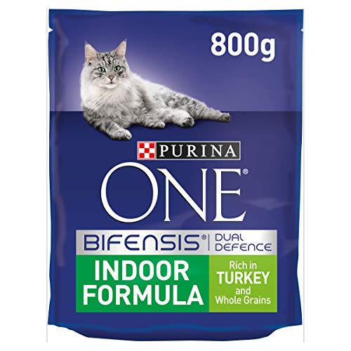 Purina One Indoor Adult Dry Cat Food Turkey, 800g