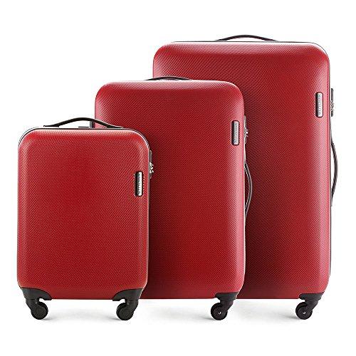 WITTCHEN Koffer – Mittelgroßer   hartschalen, Material: ABS   hochwertiger und Stabiler   Rot   64 L   71x47.5x24 cm