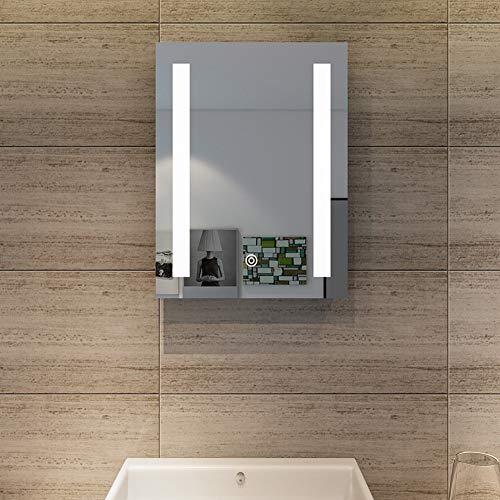 SONNI Badspiegel mit Beleuchtung 50x70cm beschlagfrei Badezimmer Wandspiegel mit Touch-Schalter Spiegel LED-Beleuchtung Kaltweiß IP44