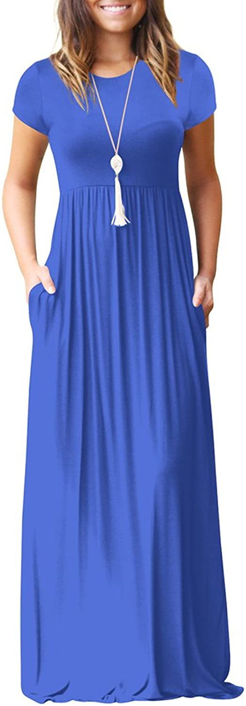 Vinteey Women's Casual Maxi Dress 3 4 Sleeve FloorLength Stripe Printed Loose Fitted Long Dress