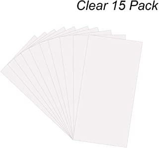 """15 Pack 6 Mil CLEAR Mylar Stencil Sheets, 12"""" x 24"""" Blank Stencils, Reusable Template Material, Make Your Own Stencil Compatible Vinyl Cutting Machine"""