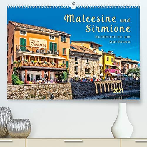 Malcesine und Sirmione, Schönheiten am Gardasee (Premium, hochwertiger DIN A2 Wandkalender 2021, Kunstdruck in Hochglanz)