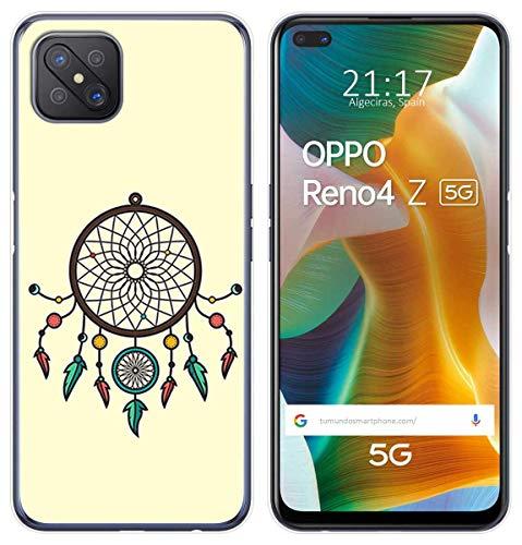 Tumundosmartphone Cover TPU Gel per Oppo Renna 4Z 5G Disegno Disegni - Acchiappasogni