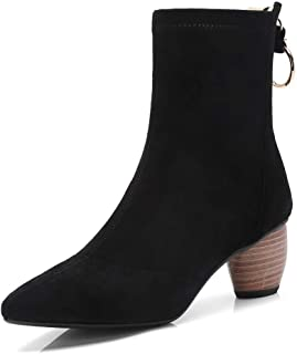 BalaMasa Womens Nubuck Solid Boots Leather Boots ABM12913