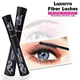 luxarra 3D Fiber Lash Mascara Waterproof, Luxuriously Longer, Thicker, Voluminous Eyelashes, Long-Lasting, Dramatic