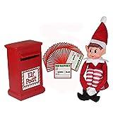Los elfos en los estantes con el buzón de correos y tarjetas de informe - Navidad Navidad niños gama agradable travieso de los niños (Elf, buzón de correos y tarjetas de informe)
