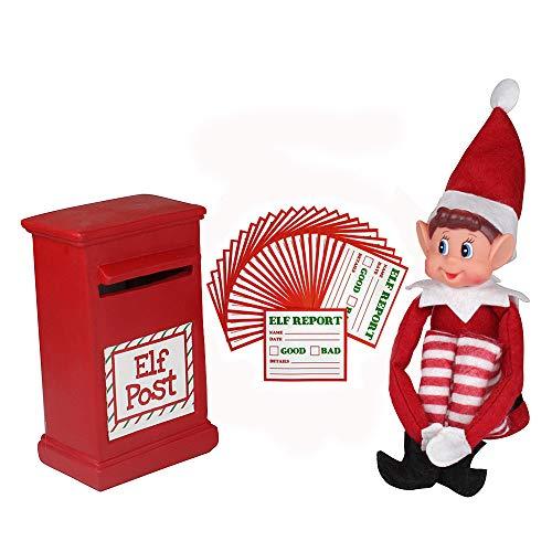 Los elfos en los estantes con el buzón de correos y