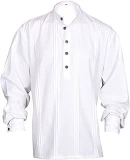 My Gothic Shop Renaissance Casual Summer Pirate Hippie Shirt Off-White Color Medieval Costume Men 2 Sizes