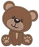 PatchMommy Bär Teddybär Patch Aufnäher Applikation Bügelbild - zum Aufbügeln oder Aufnähen -...