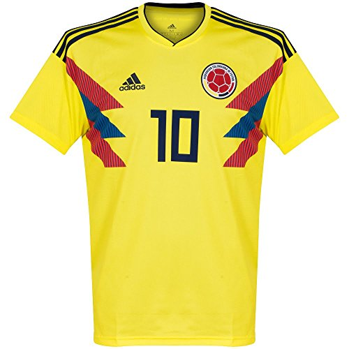 adidas Colombia 2018-2019 Home James 10 Jersey - Yellow-Small