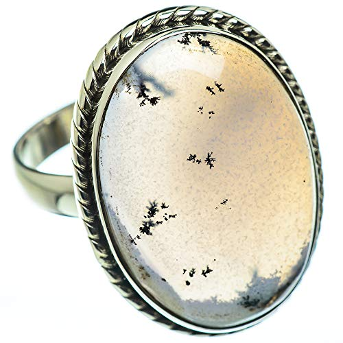 Ana Silver Co Huge Dendritic Opal Ring Size Z+1 (925 Sterling Silver)