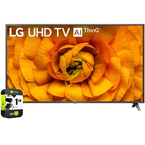 LG 86UN8570PUC 86 inch UHD 4K HDR AI Smart TV 2020 Model Bundle with 1 Year Extended Protection Plan
