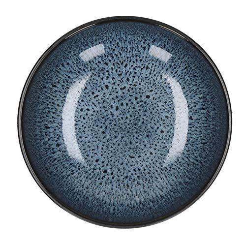 Viva Lot de 4 saladiers en faïence Bleu foncé Ø 16 cm Hauteur 6 cm