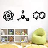 WERWN Laboratorio de Ciencias Molecular Wall Art Sticker Design Room Science Art Decoración