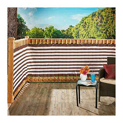Terraza Pantalla De Valla, Patio Interior Cubierta De Seguridad De Privacidad, Parabrisas Protector Solar Enfriamiento con Bridas Fijas para Jardines, Piscina (Color : Brown White, Size : 0.75x5m)