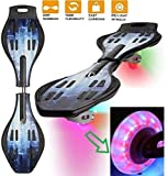 Brand Conquer Wave Board, Skate Board 31 x 8 Inch with Carry Bag LED Flash Colourful Lights on...