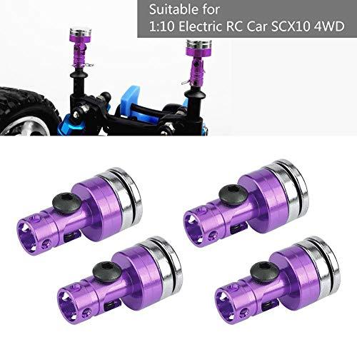 RC Auto Körper Post Mount, Alu, Super Magnetic Stealth Unsichtbare Körper Post Mount für SCX10 4WD 1:10 RC Auto, 4 Stücke ( lila)