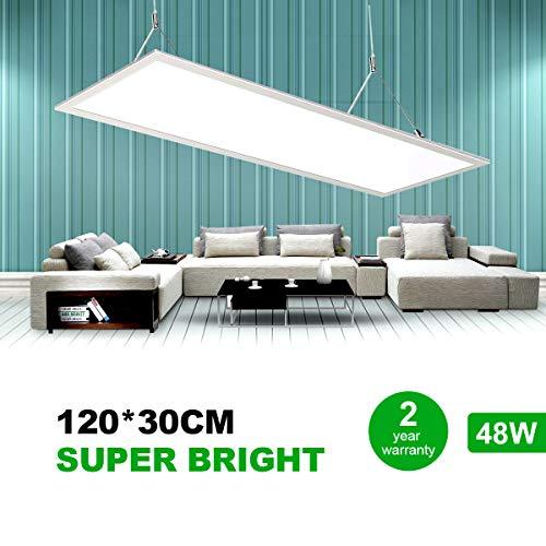 Natur 120x30CM LED Panel Deckenleuchte, 50W Ultra Dünn Deckenlampe LED, 5800LM 4000K Neutralweiß, Dekenlampe LED für Laden, Büro, Wohnzimmer