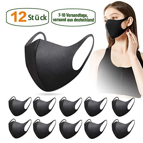 12 Stück Fashion Unisex Wiederverwendbare und waschbare schwarz | 5-10 Versandtage,Versand aus Deutschland, Versand aus Deutschland