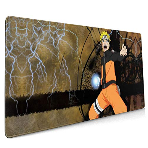 Rectangle Mouse Pad Na-Ru-to Large Game Animation Computer Notebook Computer Mac Pc