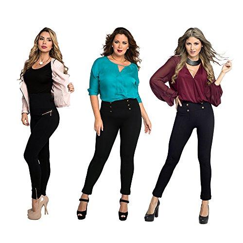 Mediashop Hollywood Pants | 3 Bodyformer Hosen in Größe: L | schwarz | 3 Designs | Shapewear Leggins | hoher Bund für flachen Bauch, optisch längere Beine und knackigen Po | Das Original aus dem TV - 7