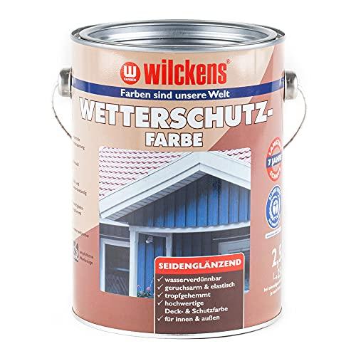 Wilckens 2,5 L. Wetterschutzfarbe, Anthrazitgrau RAL 7016 Seidenglänzend, Innen & Außen