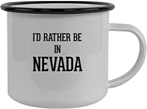I'd Rather Be In NEVADA - Stainless Steel 12oz Camping Mug, Black