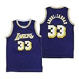 Herren-Basketball-Trikots NBA Lakers33 Kareem Abdul-Jabbar Basketball Kleidung Gestickte...