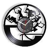 RFTGH Freestyle Stunt Scooter Tricks Reloj de Pared Acrobacias Muestran Que el Grabado con láser es Adecuado para Adolescentes Reloj de Pared para Montar en Scooter de Interior