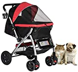 Best Pet Dog Strollers - HPZ PET Rover Premium Heavy Duty Dog/Cat/Pet Stroller Review