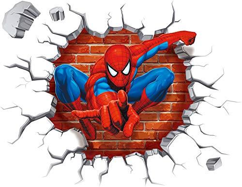 3D Spiderman enfants chambre salon chambre d'enfant fond croix stickers muraux amovibles décoration décoration maison fond stickers muraux autocollants créatifs amovibles tridimensionnels