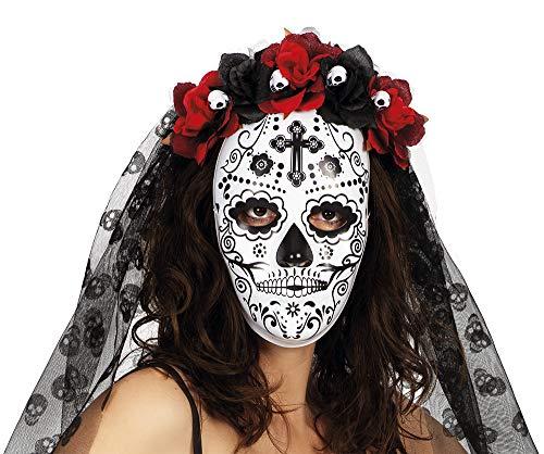 Rubies Máscara Catrina Misteriosa, Multicolor, STD para Mujer