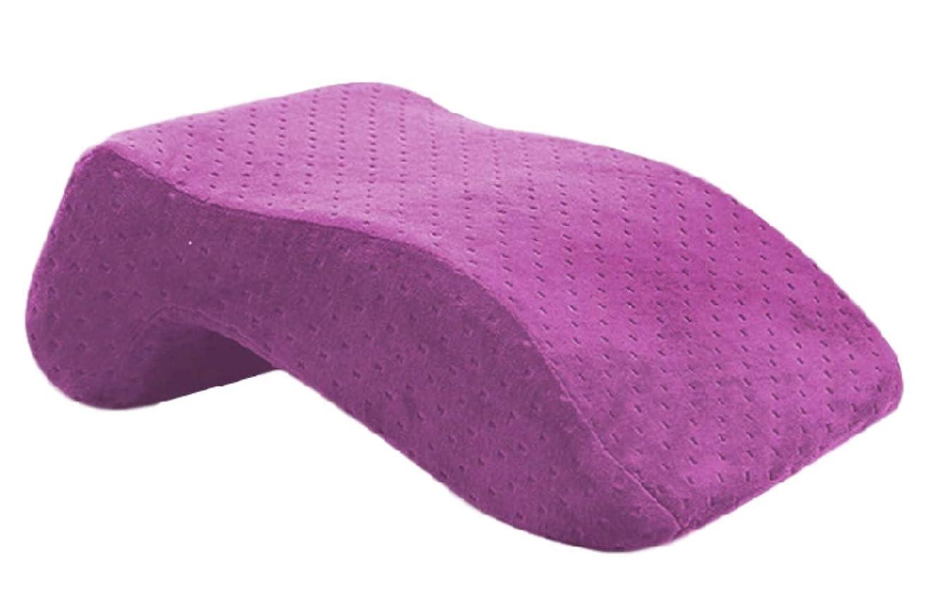欠員枠中級[エムティーエボコン] お昼寝枕 低反発 クッション うつ伏せ 楽ちん 睡眠 便利グッズ オフィス 卓上 デスク 気持ちいい 熟睡 おひるね 携帯 まくら 紫色