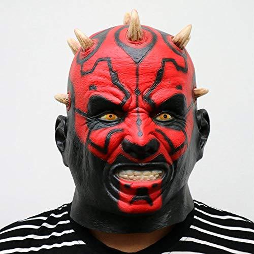 XWYWP Halloween Maske Film Darth Maul Maske voller Kopf beängstigend Horror Halloween Kopf Maske für Kostüm Cosplay Party Ball Fancy Kleid