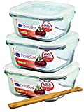 Unbekannt Lock&Lock Boroseal Set 3tlg quadratisch 750 ml
