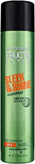Garnier Fructis Style and Shine Anti-Humidity Hairspray Ultra Strong Hold, Sleek, Fruity, 8.25 Oz
