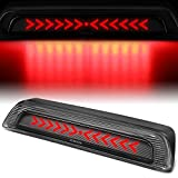 Carbon Fiber Look Sequential Arrow LED 3rd Third Tail High Mount Brake Light Lamp Compatible with Toyota Tundra 07-17