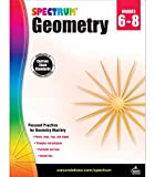 Spectrum Geometry Workbook Grades 6-8—Middle School State Standards Math for 6th, 7th, 8th Grade With Examples, Tests, Answer Key for Homeschool or Classroom (128 pgs)