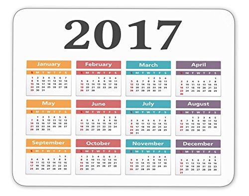 2017 Calendar Anti-Slip Pad Mat Mice Mousepad laptop Mouse pad Gaming Mouse Pad Desktop Mouse pad