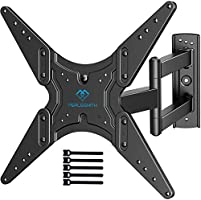 PERLESMITH TV Wall Mount for Most 26-55 Inch Flat Curved TVs with Swivels, Tilts & Extends 19.5 Inch - Wall Mount TV...