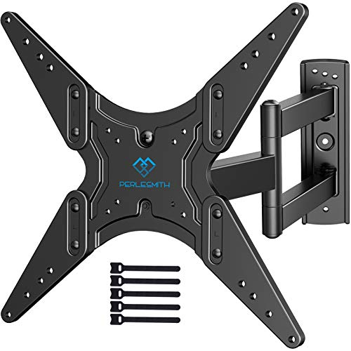 PERLESMITH TV Wall Mount for Most 26-55 Inch Flat Curved TVs with Swivels, Tilts & Extends 19.5 Inch - Wall Mount TV Bracket VESA 400x400 Fits LED, LCD, OLED, 4K TVs Up to 88 lbs, Black (PSMFK1). Buy it now for 29.99